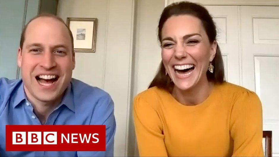 Coronavirus: William and Kate video call key workers' children – BBC News
