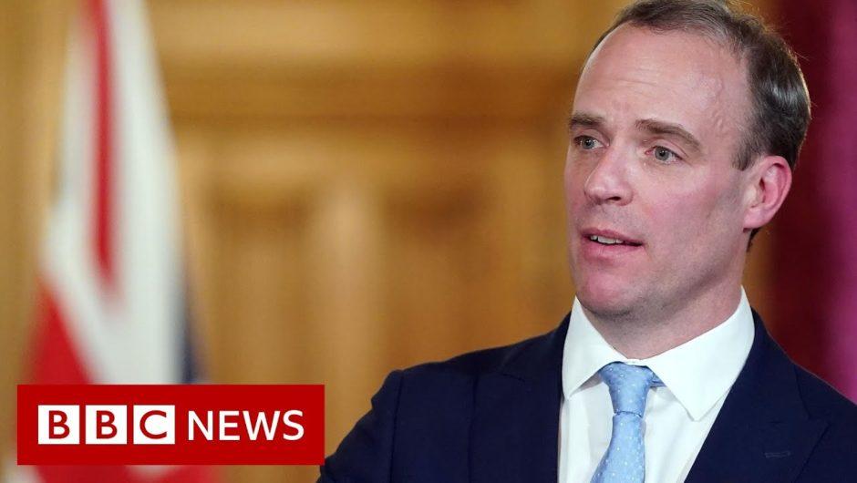 Coronavirus: Raab leads government's daily virus briefing – BBC News