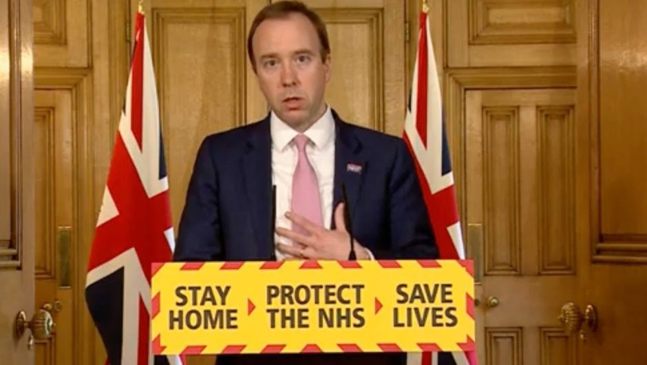 Watch again: Matt Hancock delivers daily coronavirus update as Boris Johnson returns to work