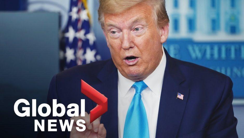 Coronavirus outbreak: Trump defends COVID-19 response, threatens hold on WHO funding | FULL