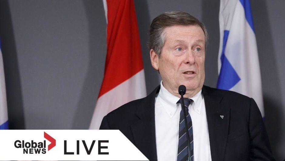 Coronavirus outbreak: Toronto officials provide update on city's COVID-19 response | LIVE