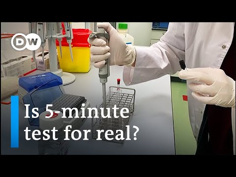 Coronavirus: US lab unveils portable 5-minute Covid-19 test | DW News