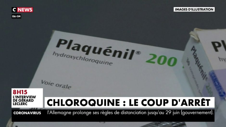 Coronavirus : coup d'arrêt pour l'hydroxychloroquine en France