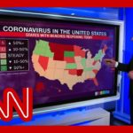 Here's how reported coronavirus cases across the country trended this week