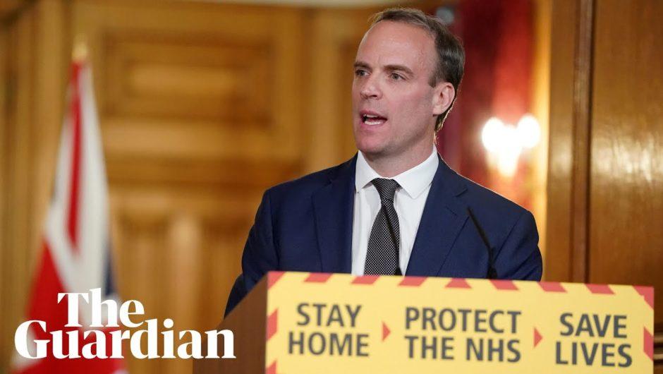 Coronavirus: Dominic Raab holds UK daily briefing – watch live