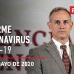 Informe diario por coronavirus en México, 28 de mayo de 2020