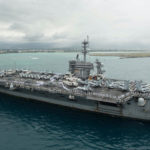 Navy carrier sidelined by coronavirus back operating in Pacific