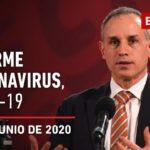 Informe diario por coronavirus en México, 27 de junio de 2020
