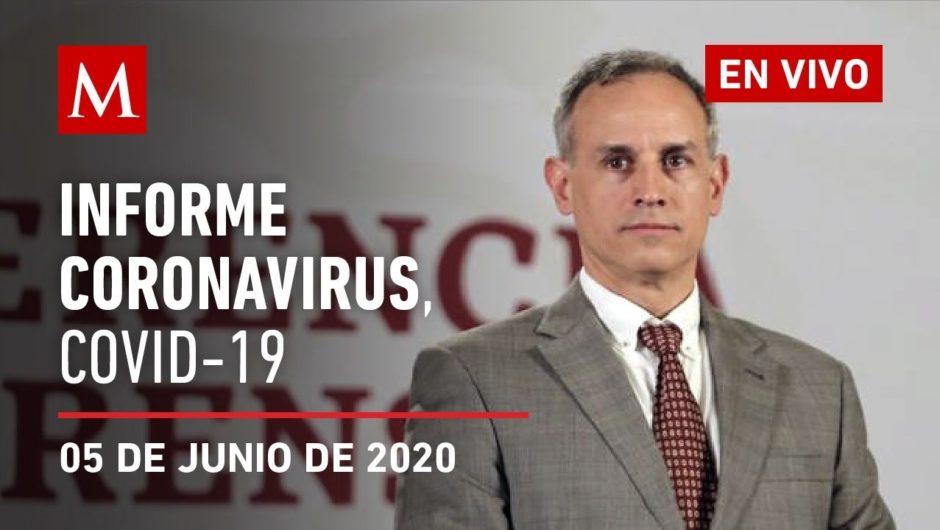 Informe diario por coronavirus en México, 05 de junio de 2020