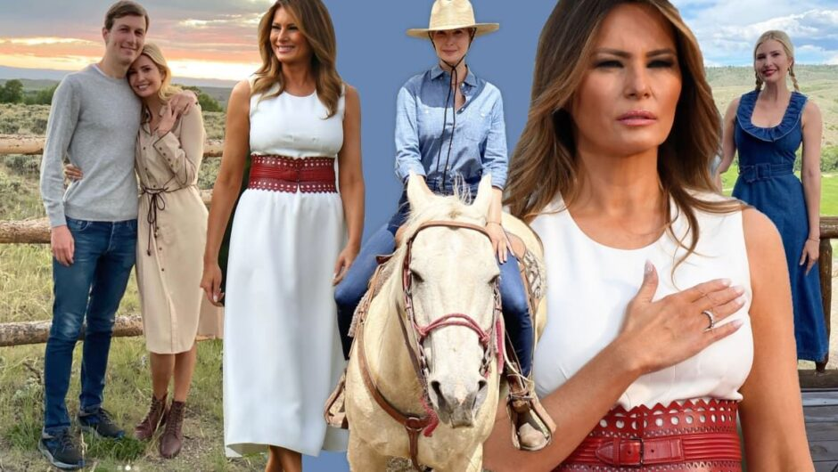 What Pandemic? Melania and Ivanka Trump's July 4th Fashion Show Was all About Them