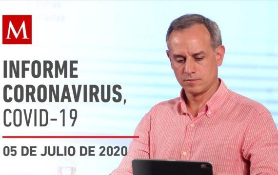 Informe diario por coronavirus en México, 05 de julio de 2020
