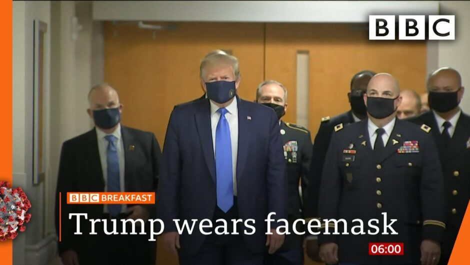 Coronavirus: Donald Trump finally wears mask in public – Covid-19: Top stories this morning – BBC