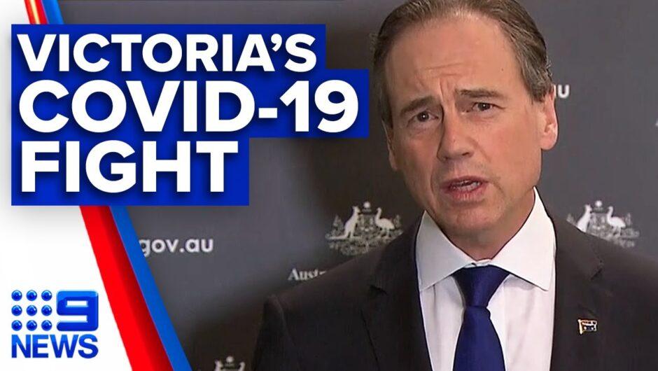 Coronavirus: Health Minister addresses AMA president's call for Victoria support   9 News Australia
