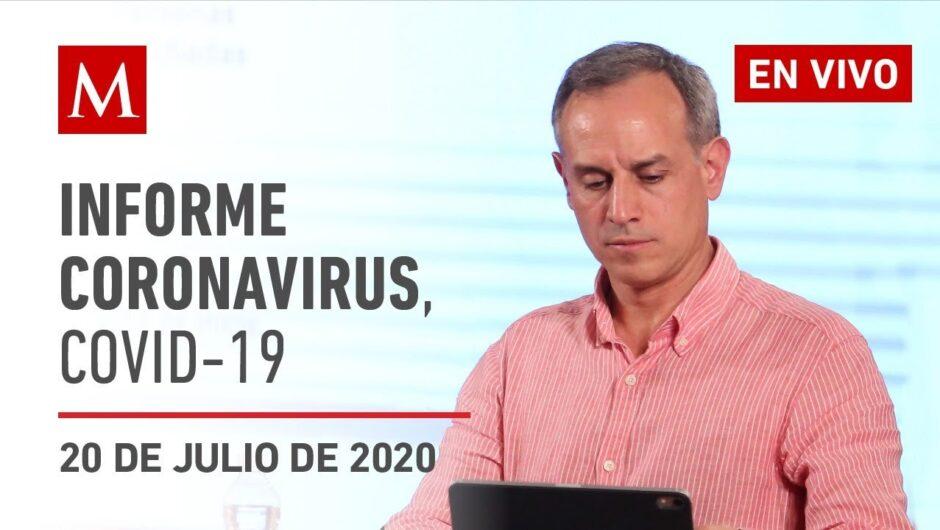 Informe diario por coronavirus en México, 20 de julio de 2020