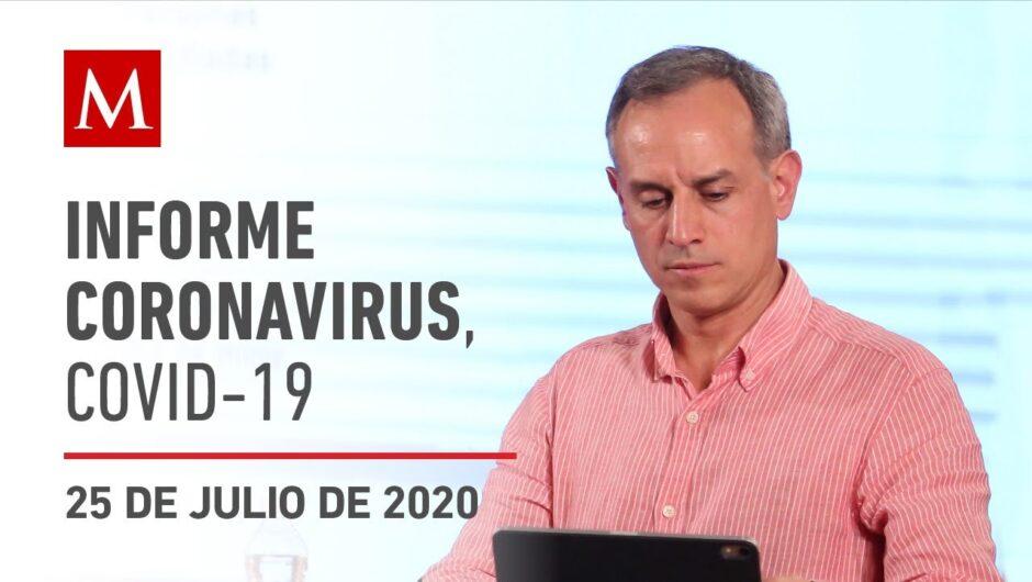 Informe diario por coronavirus en México, 25 de julio de 2020