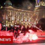 Coronavirus: Belgrade protesters storm Serb parliament over curfew – BBC News