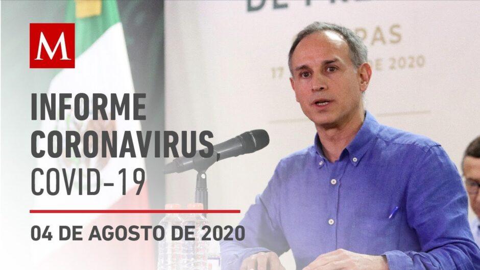Informe diario por coronavirus en México, 04 de agosto de 2020