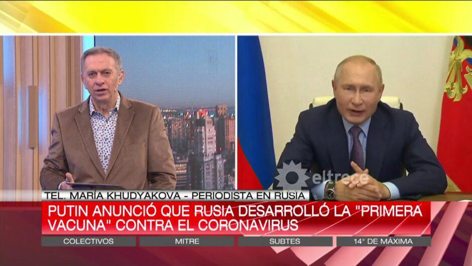 Vladimir Putín aseguró que Rusia tiene la vacuna contra el Covid-19