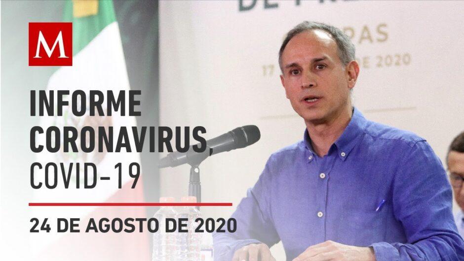 Informe diario por coronavirus en México, 24 de agosto de 2020