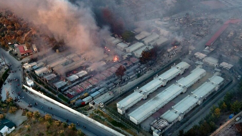 Fire Destroys Most of Europe's Largest Refugee Camp, on Greek Island of Lesbos