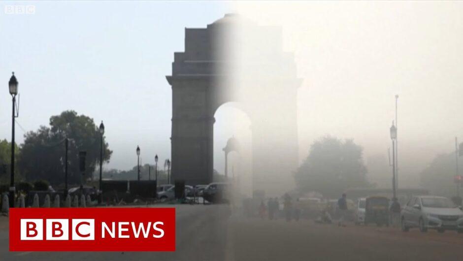Coronavirus: Smog pollution in Delhi vanishes – BBC News