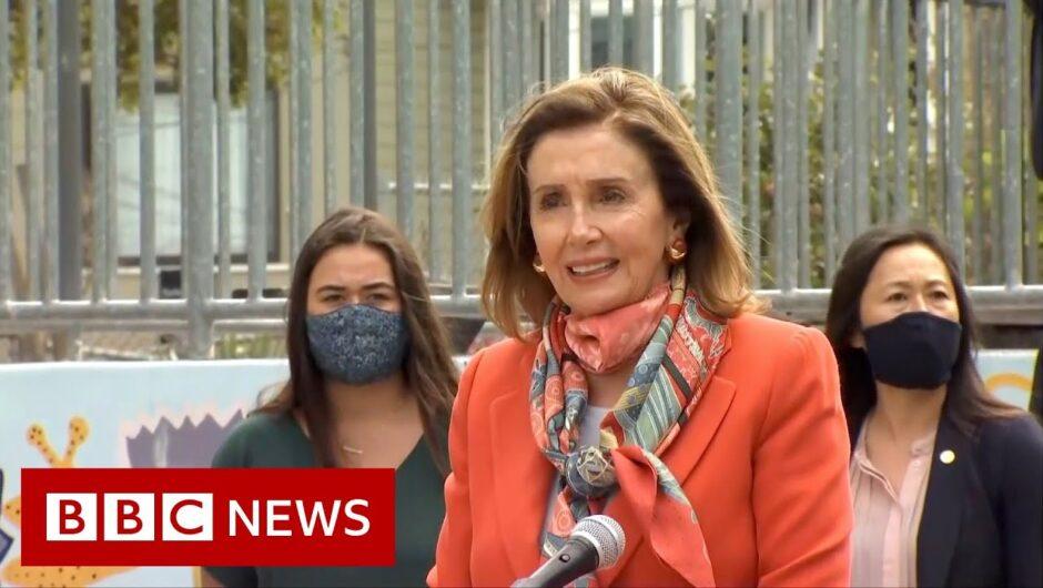 Nancy Pelosi seen without mask inside San Francisco hair salon – BBC News