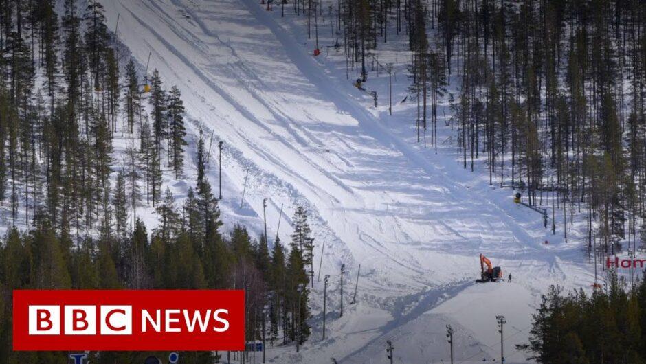 Coronavirus: The ski resort saving snow for next season – BBC News