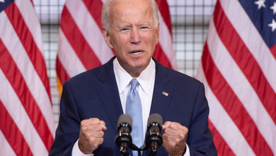 Joe Biden blanks during remarks about coronavirus death toll