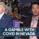 Trump Violates COVID-19 Rules with Indoor Rally | The Tonight Show