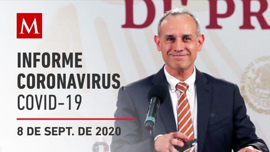 Informe diario por coronavirus en México, 8 de septiembre de 2020