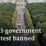 German authorities ban mass gathering against coronavirus measures in Berlin   DW News