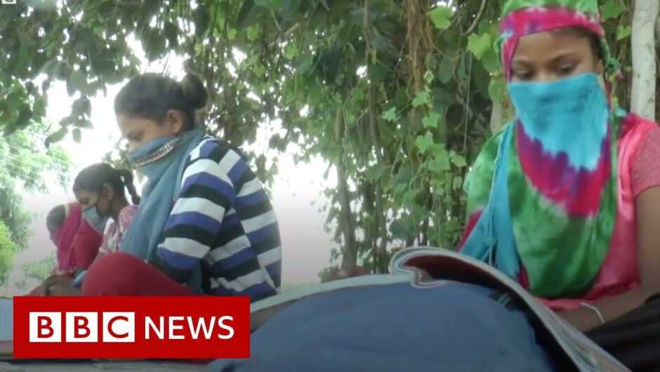 India's 'loudspeaker and motorbike schools' beat Covid fears – BBC News