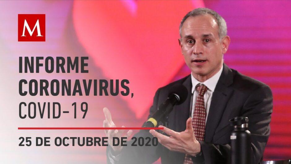 Informe diario por coronavirus en México, 25 de octubre de 2020