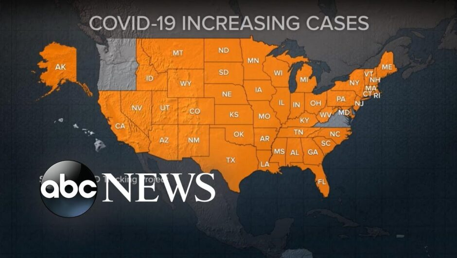 COVID-19 cases rise in 45 states, deaths rise in 30 states
