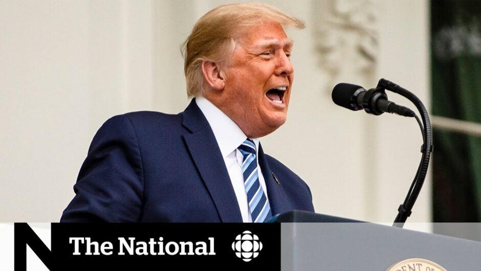 Trump claims COVID-19 immunity, falls behind in polls