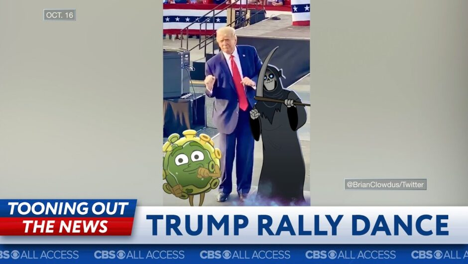 Trump dances with Covid-19 and the Grim Reaper