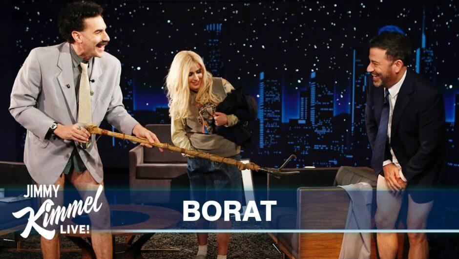 Borat Gives Jimmy Kimmel a Coronavirus Inspection