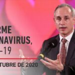 Informe diario por coronavirus en México, 1 de octubre de 2020