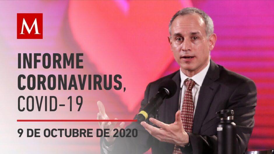 Informe diario por coronavirus en México, 9 de octubre de 2020
