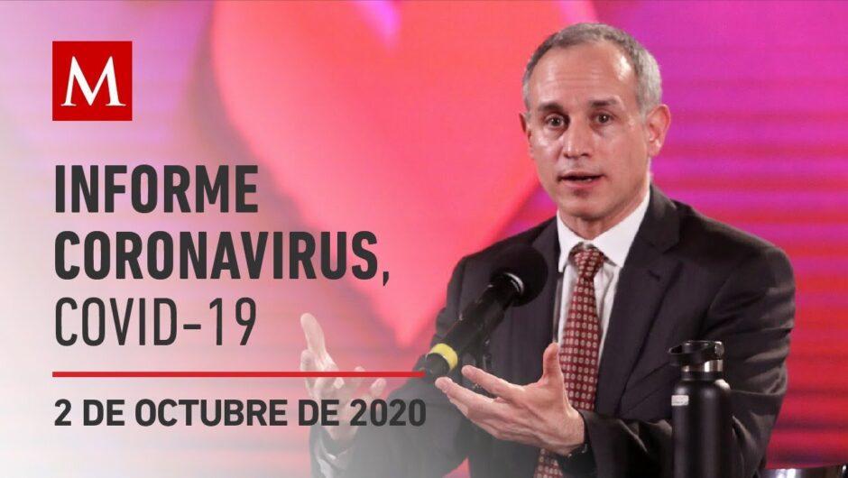 Informe diario por coronavirus en México, 2 de octubre de 2020