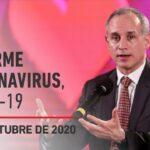 Informe diario por coronavirus en México, 3 de octubre de 2020