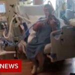Intubated Covid patient plays violin to thank Utah hospital staff – BBC News
