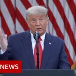 President Trump: 'Who knows which administration it will be' – BBC News