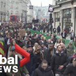 Coronavirus: Anti-lockdown protesters march in central London