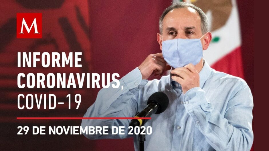 Informe diario por coronavirus en México, 29 de noviembre de 2020