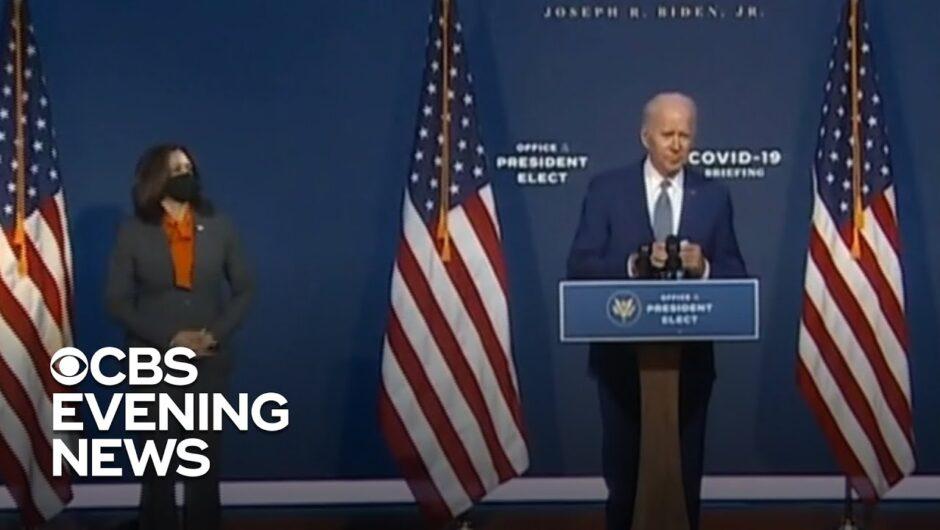 Biden begins transition with focus on coronavirus pandemic