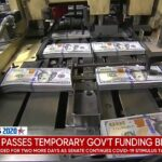 Congress passes temporary government funding to extend coronavirus relief talks