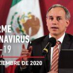 Informe diario por coronavirus en México, 2 de diciembre de 2020