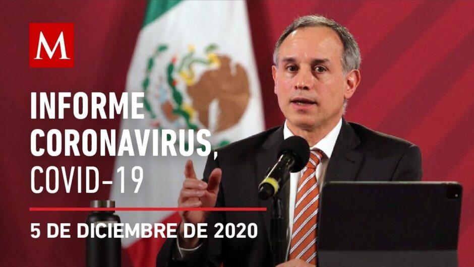 Informe diario por coronavirus en México, 05 de diciembre de 2020