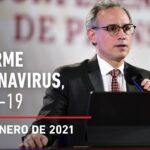 Informe diario por coronavirus en México, 27 de enero de 2021